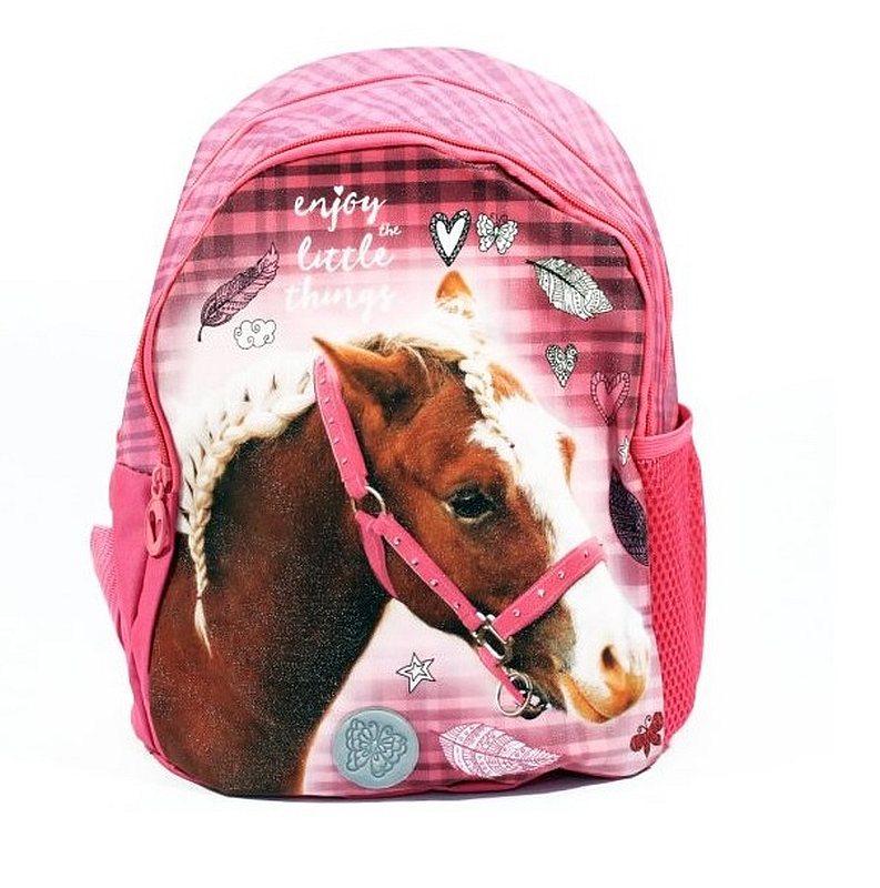 Detský batôžtek Nice and Pretty Kôň ružový 29 cm