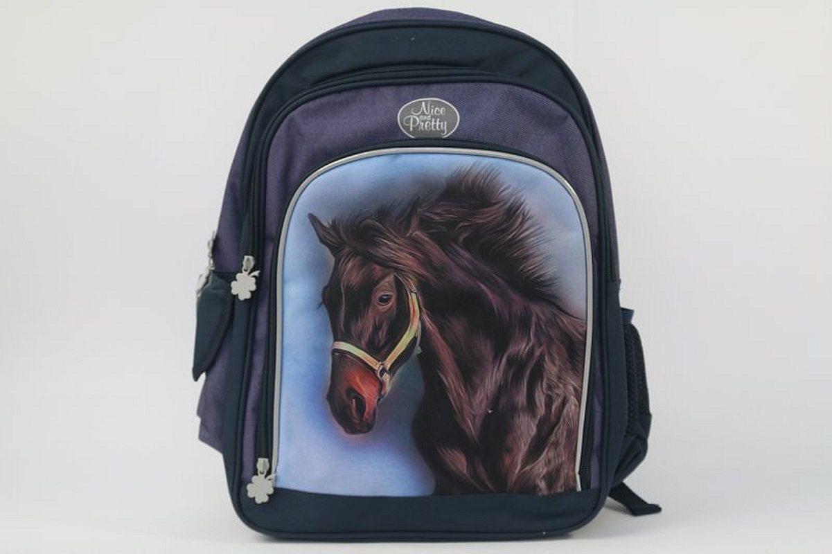 Školský batoh Nice and Pretty hnedý Kôň