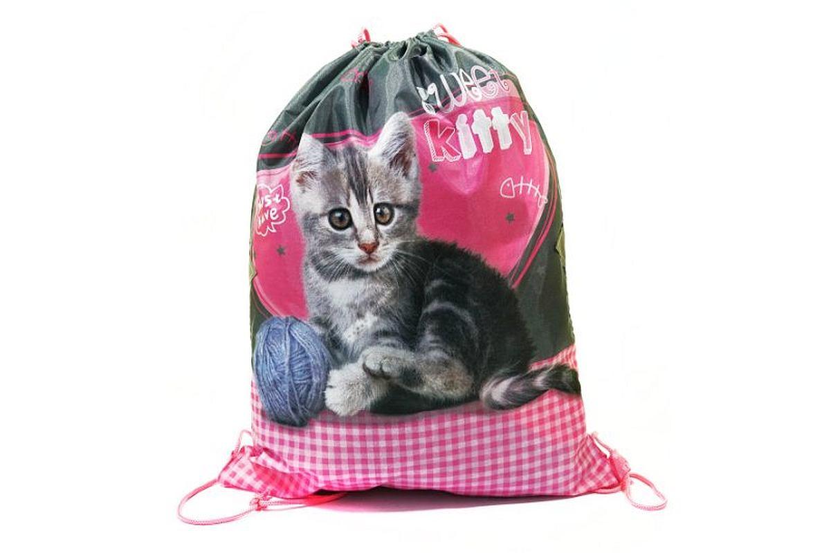 BENIAMIN Taška na telocvik a prezúvky Sweet Pets Mačiatko Polyester, 34x43 cm