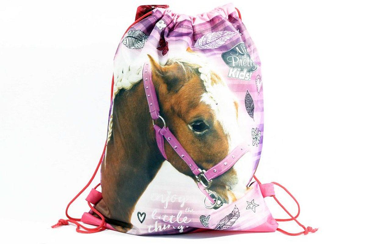 Taška na telocvik a prezúvky Nice and Pretty Kôň ružová
