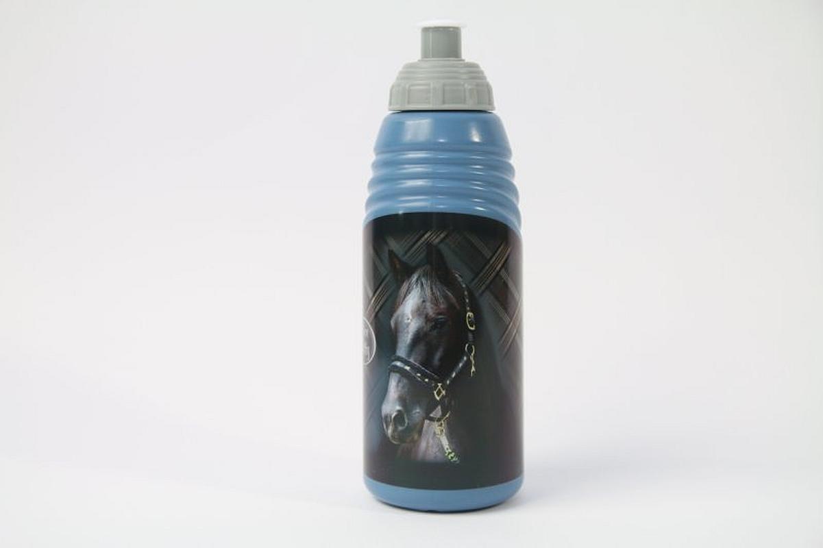 BENIAMIN Fľaša na pitie Nice and Pretty Kôň modrá Plast, výška 19 cm, průměr 6,5cm, objem 470 ml
