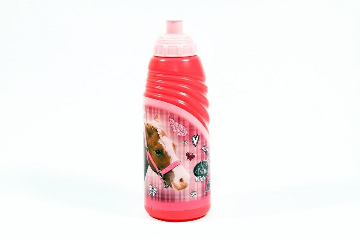 Fľaša na pitie Nice and Pretty Kôň ružová