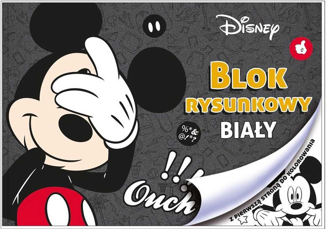 BENIAMIN Blok na kreslenie s omaľovánkou Mickey Papír, 29x21 cm
