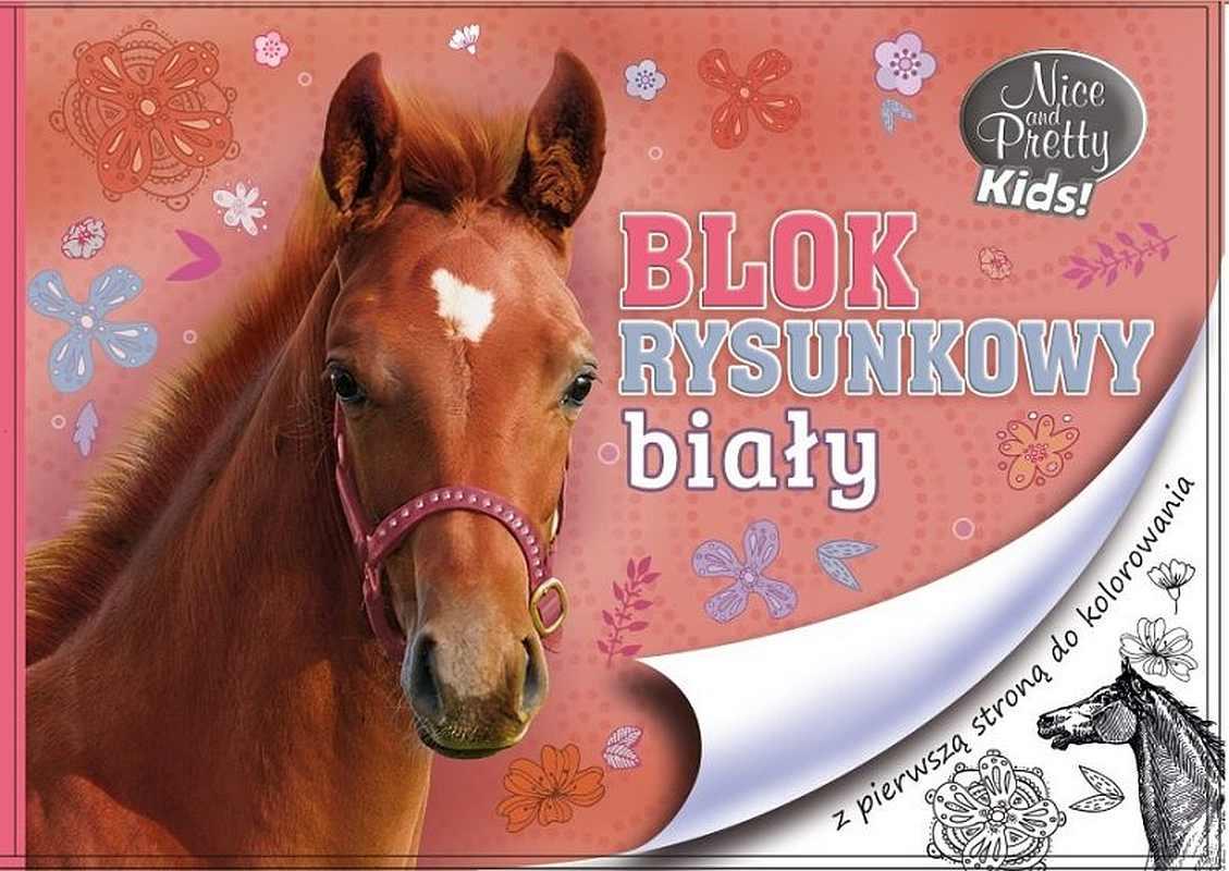 BENIAMIN Blok na kreslenie s omaľovánkou Nice and Pretty Kôň Papír, 29x21 cm