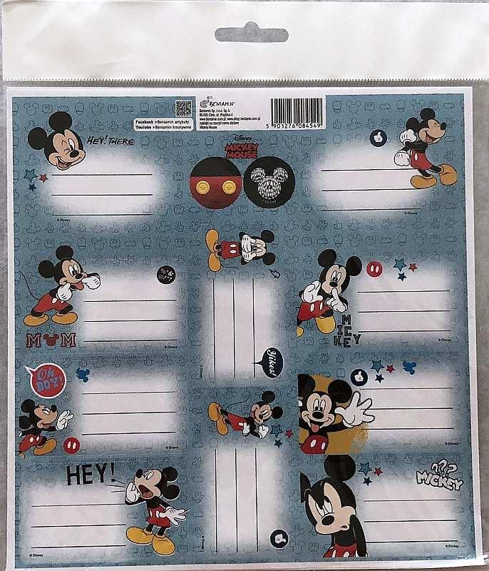 BENIAMIN Samolepiace menovky Mickey Papír, 20x20 cm