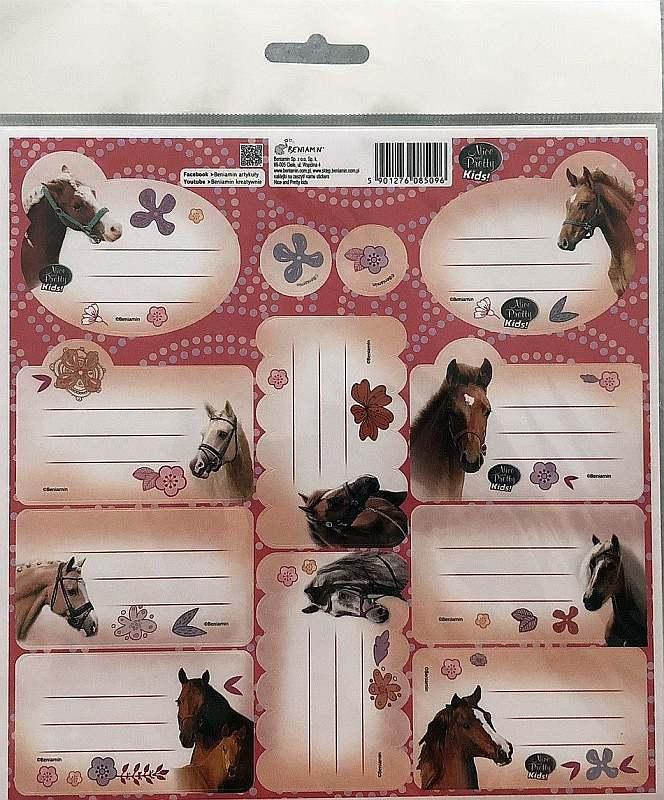 BENIAMIN Samolepiace menovky Nice and Pretty Kone Papír, 20x20 cm