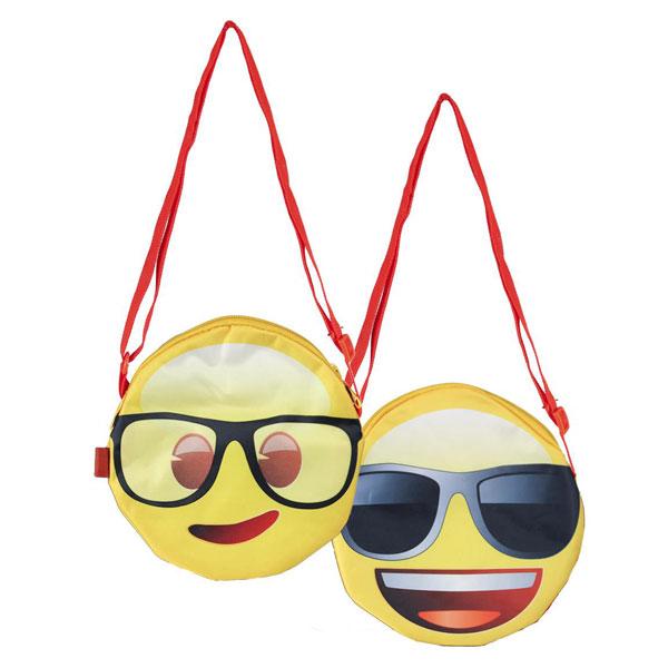 kabelka smajlíci okuliare