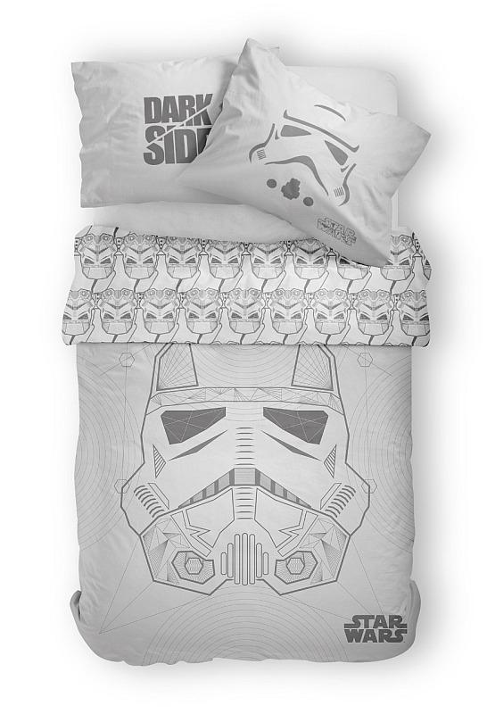 DETEXPOL Obliečky Star Wars grey  Bavlna, 140/200, 70/80 cm