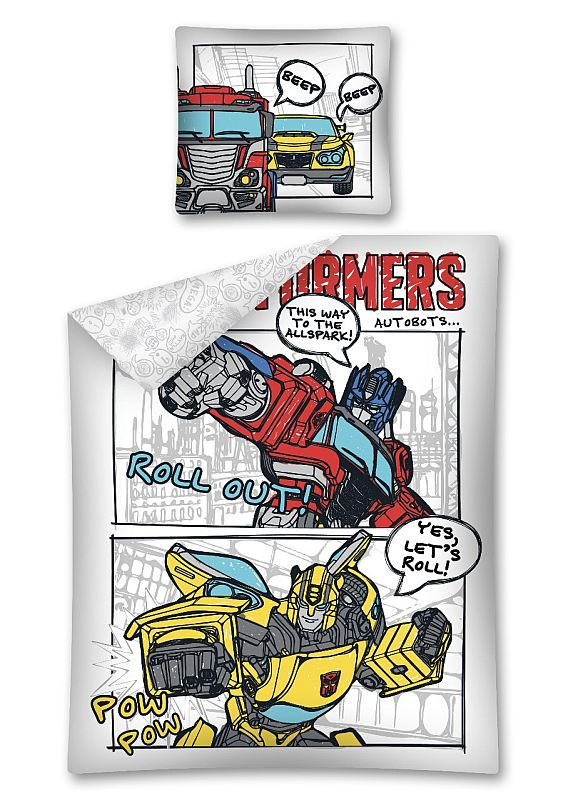 DETEXPOL Obliečky Transformers komiks  Bavlna, 140/200, 70/80 cm
