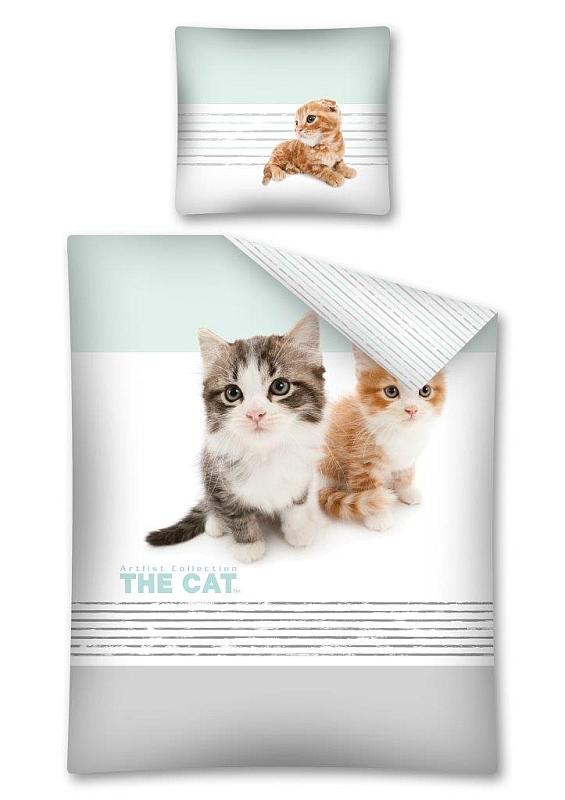 DETEXPOL Obliečky The Cat Mačiatka  Bavlna, 140/200, 70/80 cm