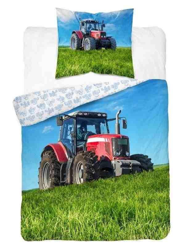 Obliečky Traktor červený 140/200, 70/80