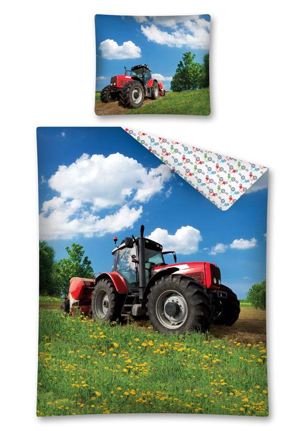 Obliečky Traktor na lúke 140/200, 70/80