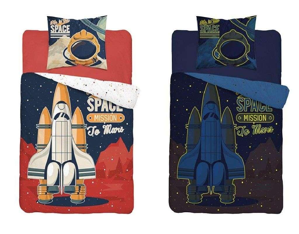 Obliečky Raketa na Mars svietiacie 140/200, 70/80