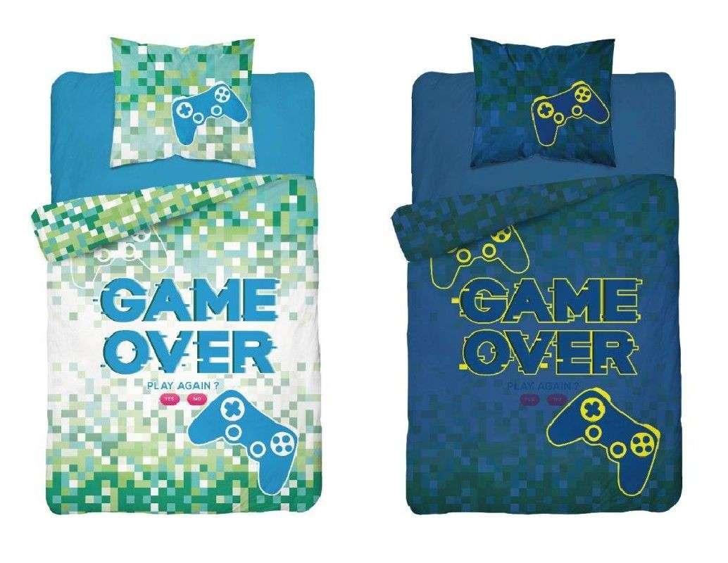Obliečky Game Over svietiacie 140/200, 70/80