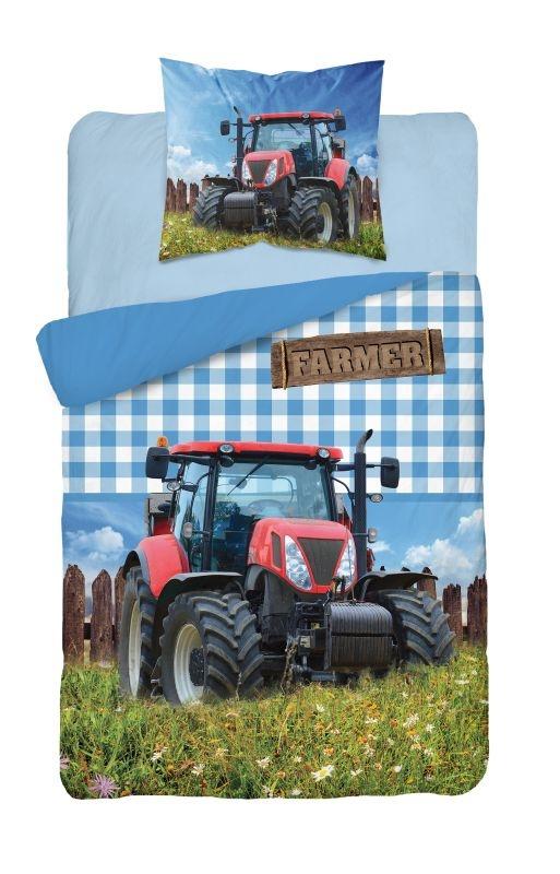 DETEXPOL Obliečky Traktor Farmer  Bavlna, 140/200, 70/80 cm