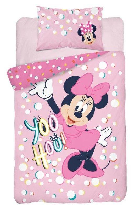 Obliečky do postieľky Minnie yoo hoo! ružová  Bavlna, 100/135, 40/60 cm