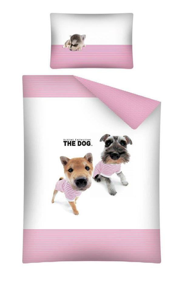 Obliečky do postieľky The Dog Námorníci ružová 100/135, 40/60