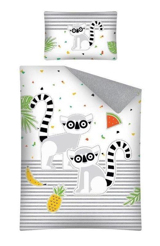 Obliečky do postieľky Lemur 100/135, 40/60