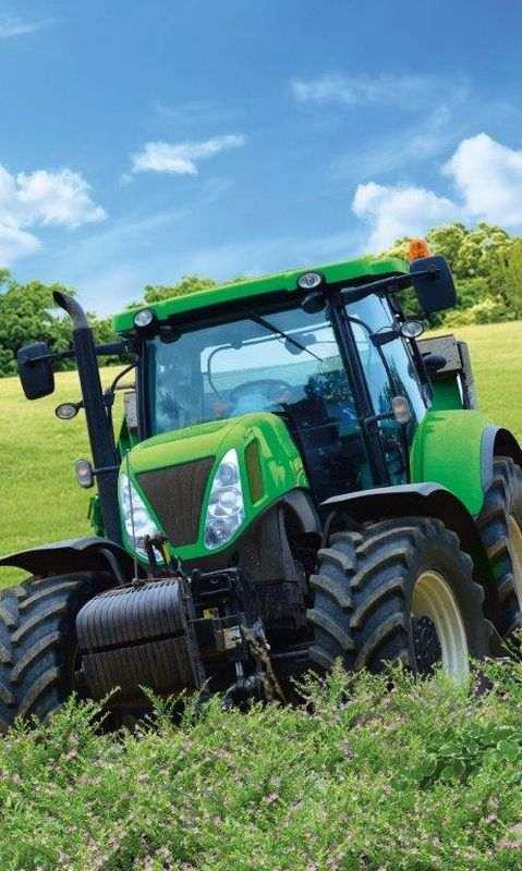 DETEXPOL Detský uterák Traktor zelený  Bavlna - Froté, 50/30 cm