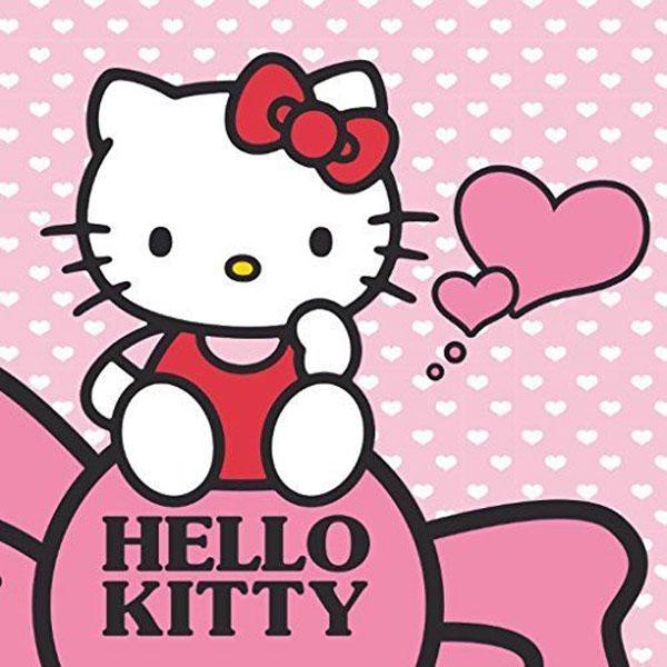 Magický ručník Hello Kitty srdiečka 30/30