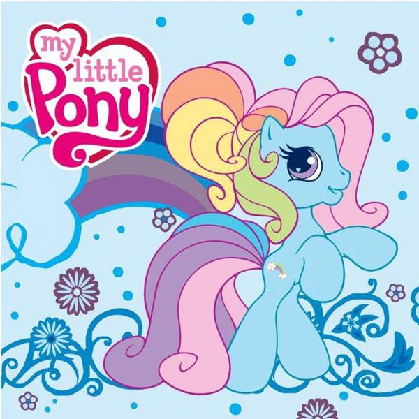 Magický ručník My Little Pony modrý 30/30