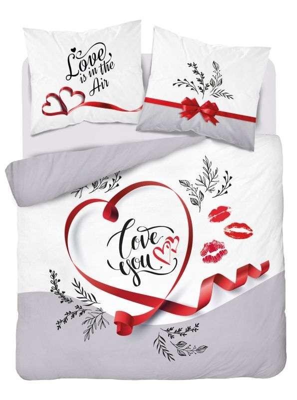 DETEXPOL Francúzske obliečky Love you  Bavlna, 220/200, 2x70/80 cm