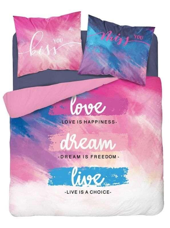 DETEXPOL Francúzske obliečky Love dream  Bavlna, 220/200, 2x70/80 cm
