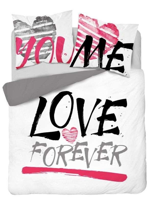 DETEXPOL Francúzske obliečky Love Forever  Bavlna, 220/200, 2x70/80 cm