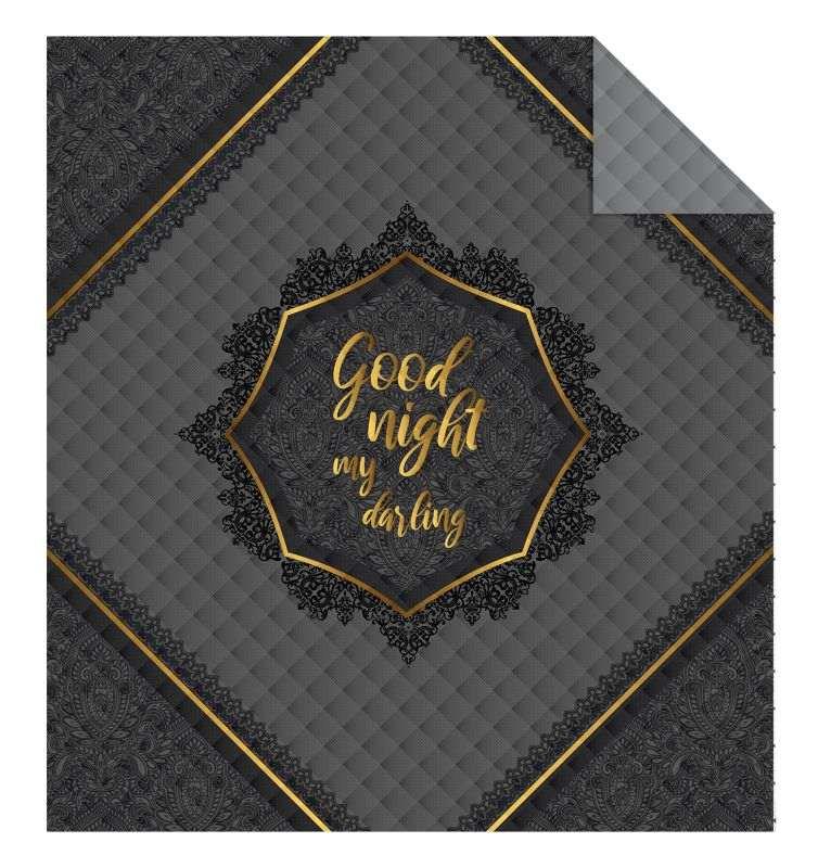 DETEXPOL Prehoz na posteľ Good Night grey  Polyester, 170/210 cm