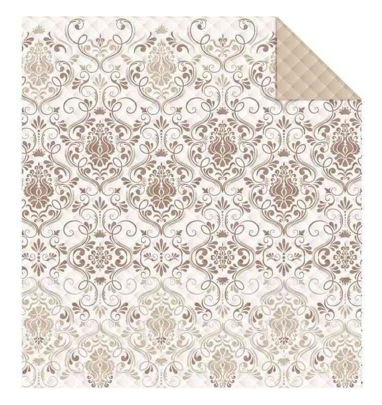 DETEXPOL Prehoz na posteľ Ornamenty béžová  Polyester, 170/210 cm
