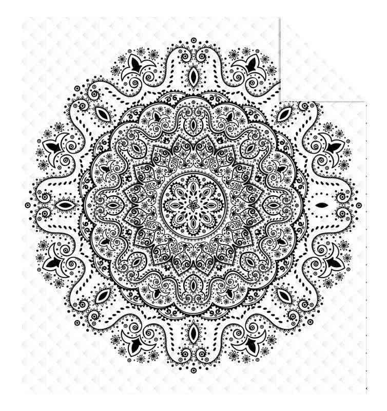 DETEXPOL Prehoz na posteľ Mandala white  Polyester, 170/210 cm