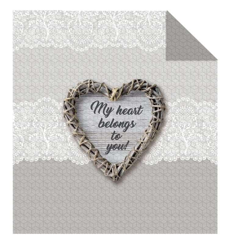 DETEXPOL Prehoz na posteľ My Heart  Polyester, 170/210 cm