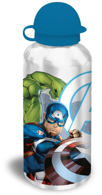 EUROSWAN ALU fľaša Avengers silver  Hliník, Plast, 500 ml