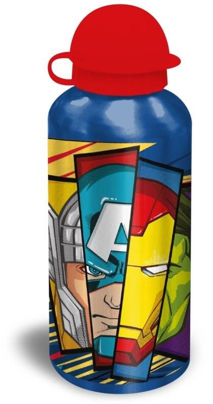 EUROSWAN ALU fľaša Avengers blue  Hliník, Plast, 500 ml