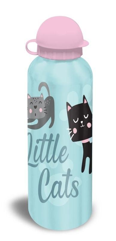 EUROSWAN ALU fľaša Mačičky modrá  Hliník, Plast, 500 ml
