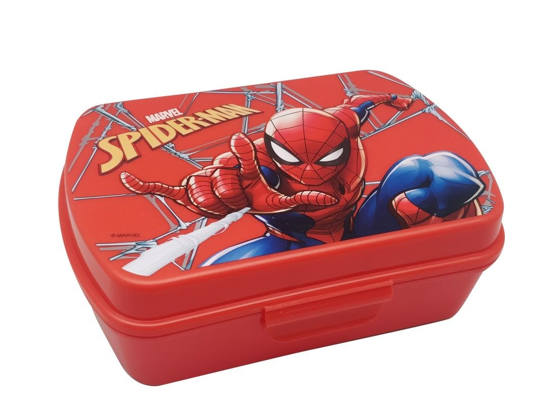 EUROSWAN Box na desiatu Spiderman red Plast, 16 x 12 x 5 cm