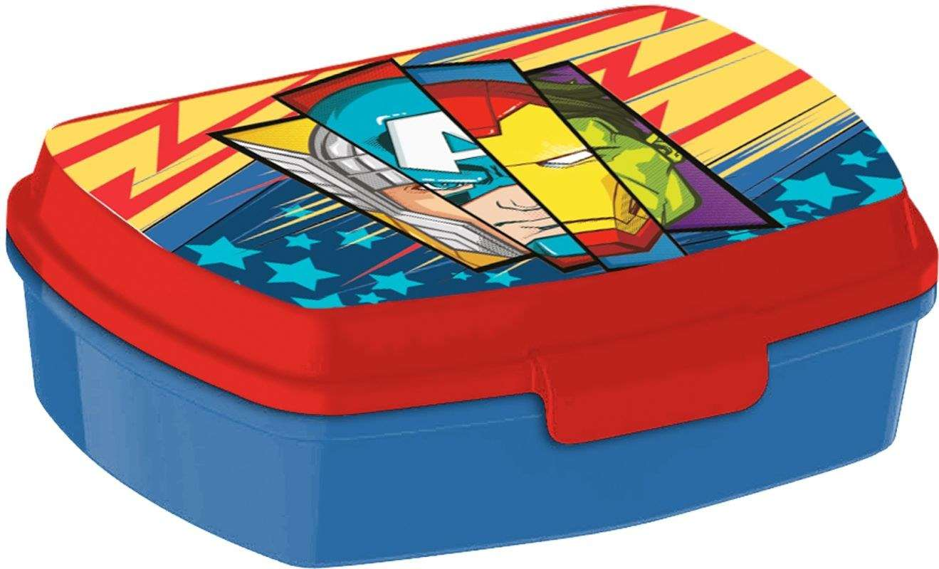 EUROSWAN Box na desiatu Avengers Plast, 16 x 12 x 5 cm