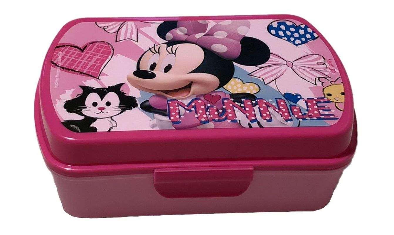 EUROSWAN Box na desiatu Minnie hearts Plast, 16 x 12 x 5 cm