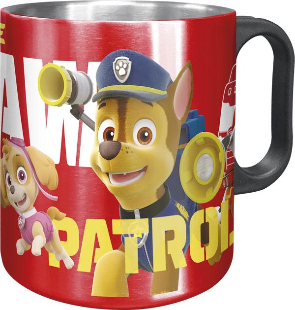 Alu hrnček Paw Patrol červený