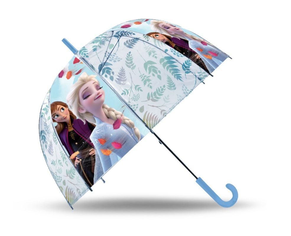 EUROSWAN Vystreľovací priehľadný dáždnik Ľadové Kráľovstvo  POE, 2 cm