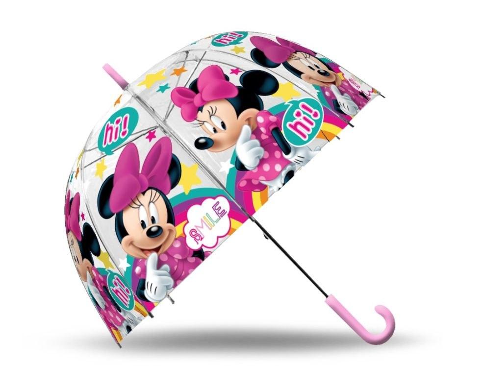 EUROSWAN Priehľadný dáždnik Minnie Smile POE, průměr 70 cm