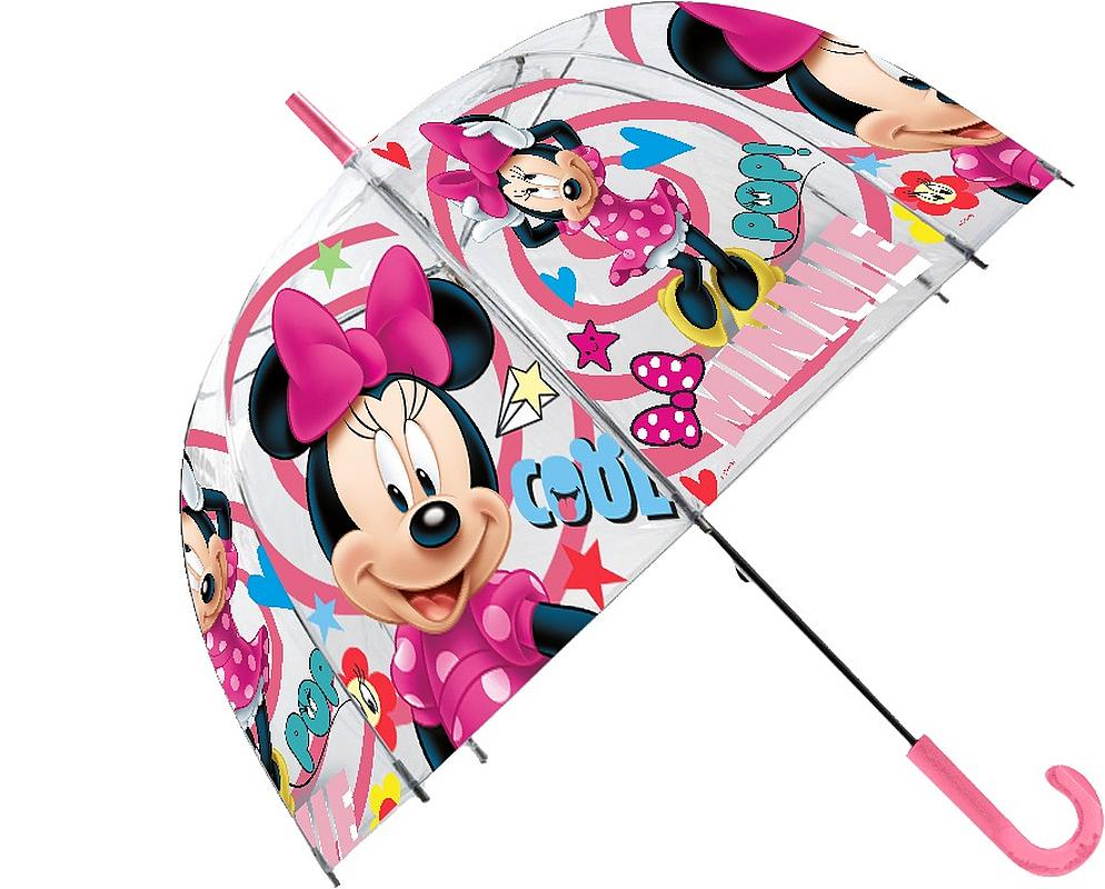 1d27ff19d EUROSWAN Priehľadný dáždnik Minnie POE, průměr 70 cm empty