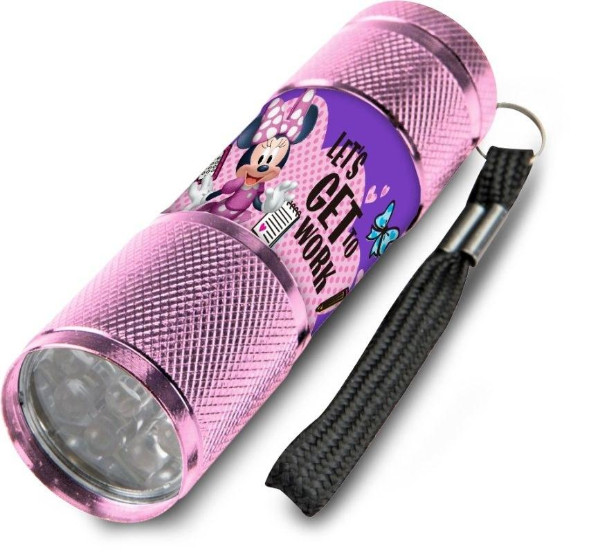EUROSWAN Detská hliníková LED baterka Minnie ružová Hliník, Plast,  9x2,5 cm