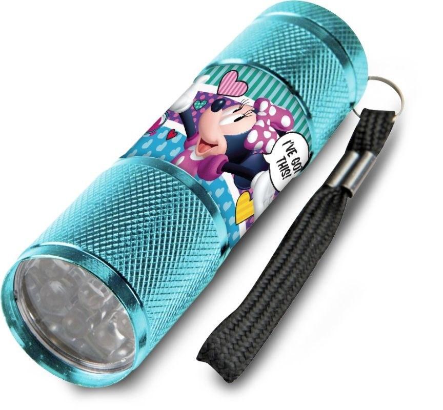 EUROSWAN Detská hliníková LED baterka Minnie srdiečka Hliník, Plast,  9x2,5 cm