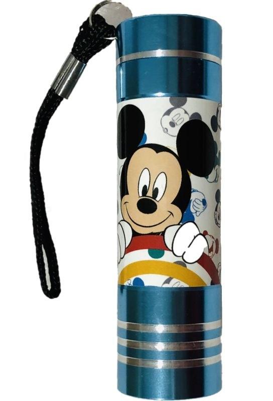 EUROSWAN Detská hliníková LED baterka Mickey Hliník, Plast,  9x2,5 cm