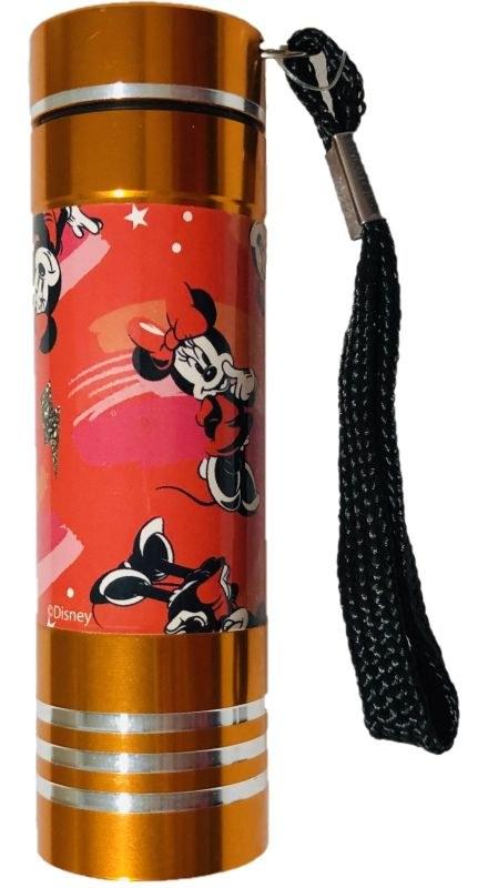 EUROSWAN Detská hliníková LED baterka Minnie oranžová Hliník, Plast,  9x2,5 cm