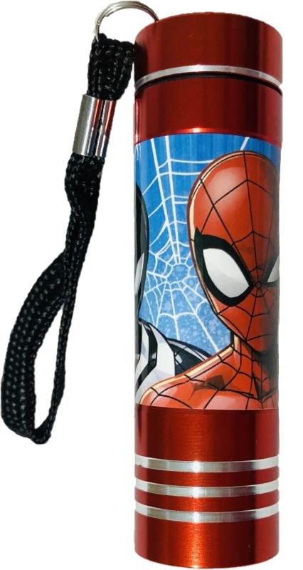 EUROSWAN Detská hliníková LED baterka Spiderman red Hliník, Plast,  9x2,5 cm
