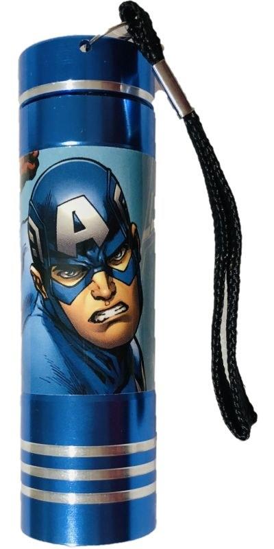 EUROSWAN Detská hliníková LED baterka Avengers blue Hliník, Plast,  9x2,5 cm