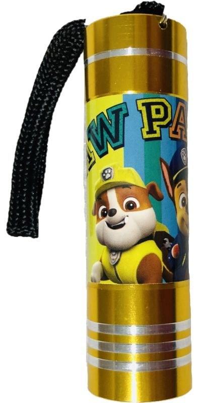 EUROSWAN Detská hliníková LED baterka Paw Patrol žltá Hliník, Plast,  9x2,5 cm