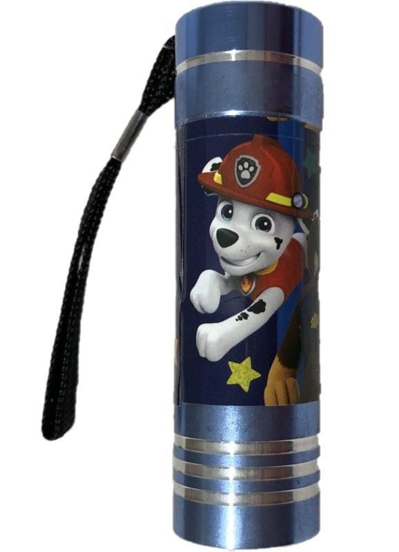 EUROSWAN Detská hliníková LED baterka Paw Patrol modrá Hliník, Plast,  9x2,5 cm